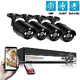 Jennov POE Security Camera System HD 5MP 4 channels IP Bulllet Camera