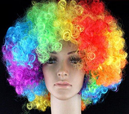 MATISSA Costumi da clown pagliacci per adulti Accessori da uomo e da donna Clown (Parrucca da clown)