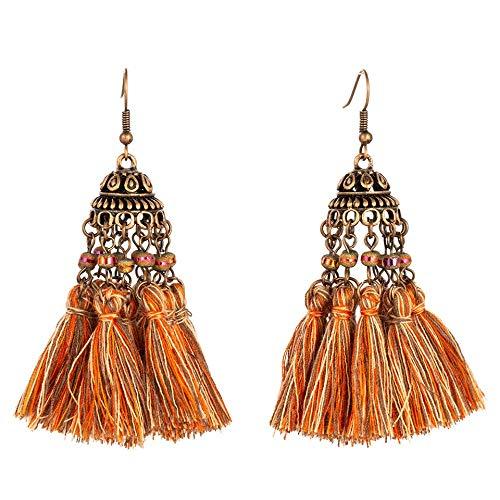 Ohrstecker Ohrhänger Tropfen Ohrlinie Laterne Design Quaste Gemischt Orange Ohrringe Hängend Dangle Für Frauen Modische Hochzeit Ohrringe Schmuck Zubehör Geschenk ()