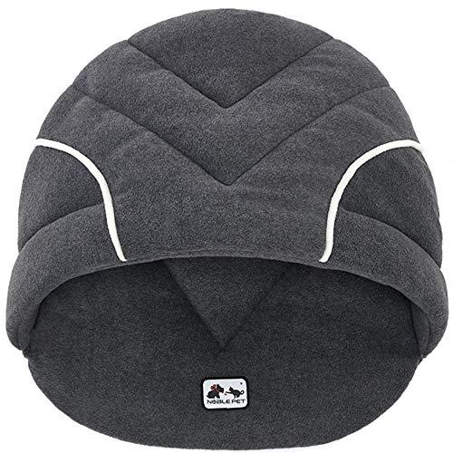 Amphia - Haustier Schlafsack,Weiche Fleece Winter Warm Pet Hundebett Kleiner Hund Katze Schlafsack Welpenhöhle Betten(Grau,S)