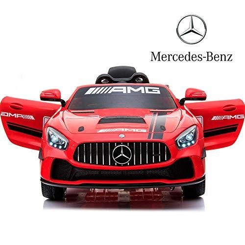 BC BABY COCHES BabyCoches Coche eléctrico para niños - Mercedes AMG-GT4 Coche con Batería 12v y Mando para Padres (Rojo)