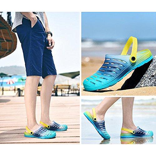 Eastlion Farben Steigung Paar Gelee Sandalen Sommer Strand Garten Schuhe Männlich Farbe 3