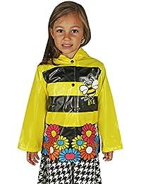 Little Girl's Yellow Bumble Bee Sunflower's Raincoat (Toddler / Little Kids)
