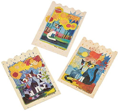 LUMINARIA 8538500 Déco lumineuse Wachtmeister - set de 3, Papier, 11 x 16 x 9 cm, Multicolore