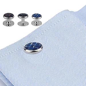 Ballylelly XK0001 / XK0002 / XK0003 6 PC/Satz-Mann-Klassische Manschettenknöpfe Edelstahl-Hochzeits-Kleid-Geschäfts-Partei-Hemd-Kleidungs-Manschettenknöpfe