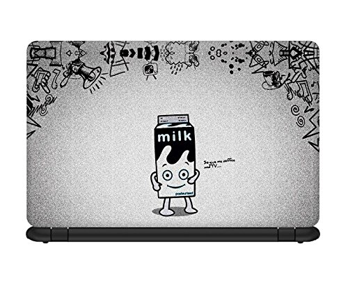 Design Lab Everyone Needs Coffee and TV Laptop skin for 17 inches Laptop, Compatible for Dell-Lenovo-Acer-HP-Vaio-Samsung Laptops [HD Print - Matte Lamination]  available at amazon for Rs.195