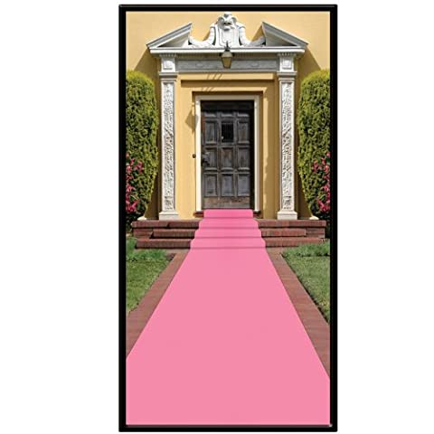 Beistle Carpet Runner, 24in by 15 ft, Pink