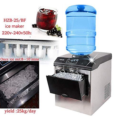 gogobest Größe Bullet Eismaschine Elektrische Kommerziellen oder Heimgebrauch Countertop Automatische Eisherstellungsmaschine, Eiswürfel, Der Maschine 220 v (Eis-maschinen-reiniger)