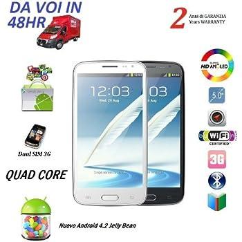 TC MyPhone 5.0 CELLULARE SMARTPHONE S9500 S4 MTK6589 QUAD CORE 1.2GHZ 1GB RAM DISPLAY 5 POLLICI HD ADROID 4.2 Jeally Bean 3G WI-FI GPS DUAL SIM PLAYSTORE GIA INSTALLATO - NERO