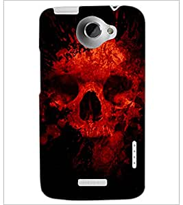 PrintDhaba Scary Skeleton D-4341 Back Case Cover for HTC ONE X (Multi-Coloured)