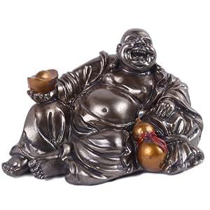 Bouddha Rieur Traditionnel Porte Bonheur De Richesse Et