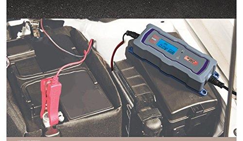 Carica batteria da auto moto nave 6V 12V automatico con schermo LCD 4programmi fino a 120Ah