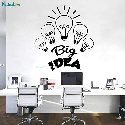 zhuziji Teamwork Wörter Business Big Idea Wandtattoos 5 Lampenformen selbstklebend Büro Dekor Novel Art Murals Vinyl Poster rot L 70x77cm