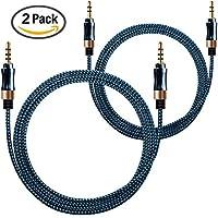 AFUNTA 2 Pack Cavo AUX Nylon Intrecciato 3.5mm Cavi Audio
