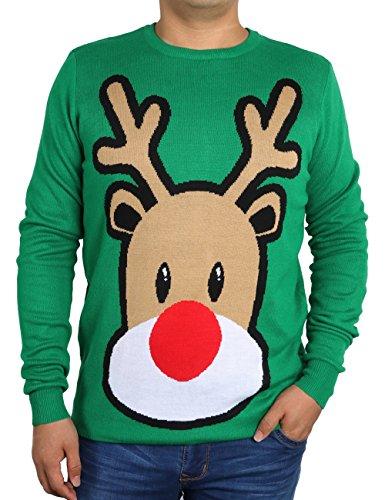 uideazone Herren Damen Ugly Weihnachts Pullover Jumper Xmas Sweater Shirt Strickpullover