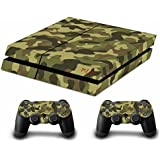 Ps4 Playstation 4 Consola Design Foils Sticker Decal Pegatinas + 2 Controlador Skins Set (Soldier Green)