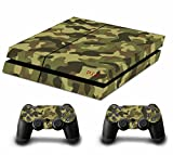 Camouflage Tarnung Decal Skin Sticker Aufkleber for Playstation 4 PS4 Console Controllers (soldier green)
