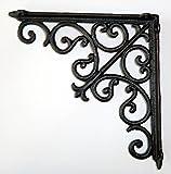 Regalbodenträger Regalträger Regalhalter Winkel Gusseisen antik schwarz groß