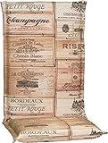 Beo HL Ascot BE750 Gartenmöbel Auflage für Hochlehner im Weinkisten Design, braun