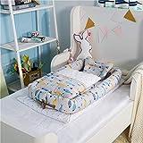 Y-nest Babywiege Stubenwagen Babynestchen/Aus Bio-Baumwolle Und Füllung Aus Kapok/Multifunktionales Kuschelnest Für Babys Und Säuglinge Nestchen,A