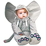 Guirca Elefanten Kostüm für Kinder, Größe:92/98