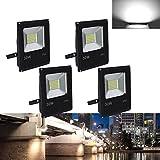 VINGO® 4X 30W LED Fluter Spot Strahler Aussen Leuchtmittel Kaltweiß 6000K Lampe Außenstrahler Objektbeleuchtung Leucht