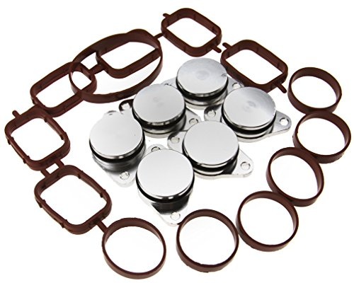 Preisvergleich Produktbild 6x32mm Drallklappen Set Swirl Flaps mit O-Ringen Dichtungen Ansaugbrücke für BMW