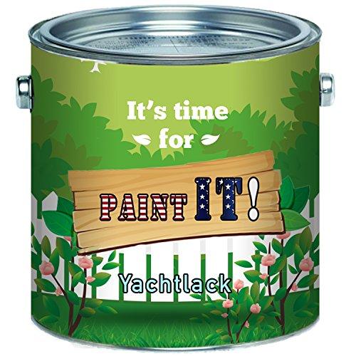 Paint IT! Bootslack hochwertiger Yachtlack für Holz und Metall in Farblos Rot Blau Grün Grau Anthrazitgrau Weiß Schwarz Braun Bootsfarbe Yachtfarbe Schiffslackierung Parkett-Lack