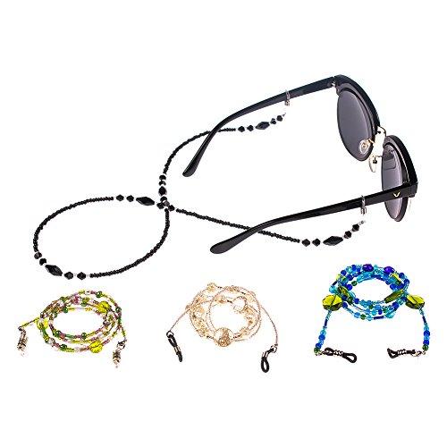 Soleebee 4 pezzi universali Corda per occhiali Catena porta occhiali rilievo moda Cordino per occhiali / Corda per occhiali / Occhiali da sole