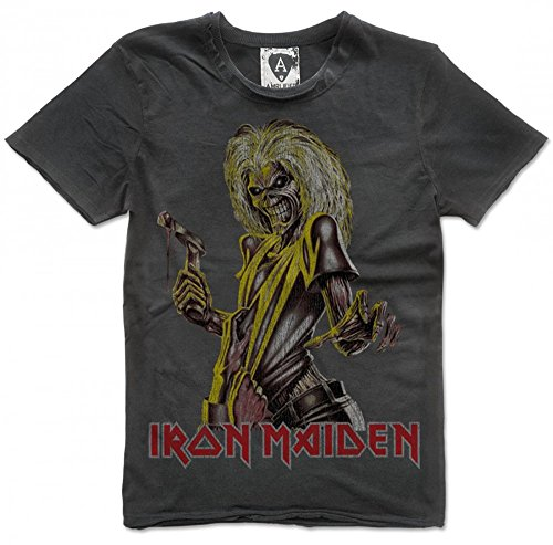 Amplified Iron Maiden Killers T-Shirt Charcoal