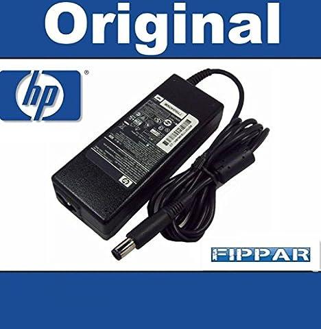 90W Adaptateur Chargeur d'origine HP pour HP Pavilion dv7 dv7-1000 alimentation 19V 4.74A pour ordinateur portable HP Compaq 2510p HP Compaq 2710p HP Compaq 6510b HP Compaq 6515b HP Compaq 6530b HP Compaq 6535b HP Compaq 6710b HP Compaq 6715b HP Compaq 6720s HP Compaq 6730b HP Compaq 6730s HP Compaq 6735b HP Compaq 6735s HP Compaq 6820s HP Compaq 6830s HP Compaq 6910p HP Compaq 8510p - avec adaptateur secteur EU et garantie 1 an inclus