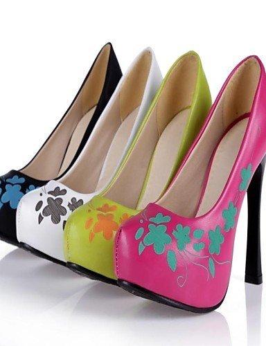 ShangYi Chaussures Femme - Mariage / Bureau & Travail / Habillé / Décontracté - Noir / Jaune / Rouge / Blanc - Talon Aiguille - Talons - Talons - Red