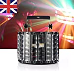 Gledto Disco DJ Lights Effect Stage Lighting, 9 LEDs 30W Colour Changing LED Light Voice-actived DMX512 Party Light for Club, Pub, Light Show, School Hall, Parties, Concert, Mobile Disco Atmosphere(9 Channel)