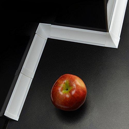 [DQ-PP] 3m Winkelleisten Weiß Weiss für Küchen 23mm x 23mm Arbeitsplatten Grundprofil...