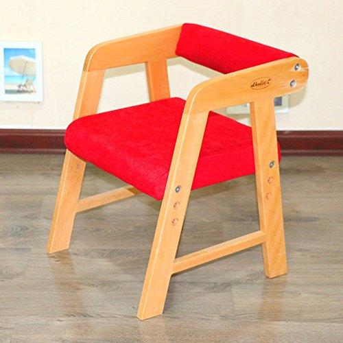 Dana Carrie Le jardin d'chaises tabouret en bois massif Simple Green Retour à la maternelle de la hauteur du siège réglable 23cm 26cm 29cm, rouge