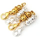 "FACILLA® 4 Silver + Gold Tone Magnetic Necklace Clasp 0.63x0.24"" HOT"