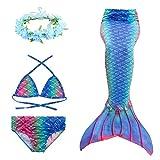 D C.Supernice La Coda della Sirena della Ragazza del Bambino può Nuotare 3 Costumi da Bagno del Bikini della Sirena Costume da Bagno del