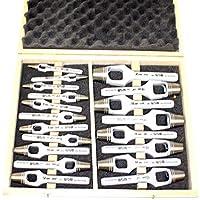 Surtido de asa–Juego de sacabocados 19piezas 19piezas en Juego de 2hasta 20mm más 1mm en caja de madera. COMO de hierro, plantilla Hierro, orificio Silbato verwendbar. Top de calidad de WGB 10años de garantía.