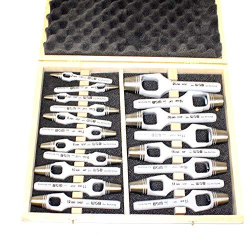 Assortiment 19 pièces Poinçon Jeu de 19 pièces dans un ensemble de 2 à 20 mm pour 1 mm steigend dans un coffret en bois. En Tant Que Fer, fer de perforation, trou Sifflet verwendbar. Top qualité de wgb garantie 10 ans.