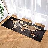 MORBUY Fußabtreter 40x60/40cmx120 Innenbereich Weltkarte Flur Teppich Wohnzimmer Fussabstreifer Rutschfest und Waschbar Praktische (40 * 120cm, Sinn für Zeit)