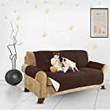 Decdeal Sofa Cover Reversible Couch Slipcover Dog Pet Sofa Cover Machine Wash for Pets Kids Cats