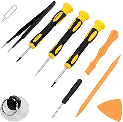 Repair Kit with Tools for iPhone 4, 5, 5S, 5C, 6, 6S, 7, Samsung Galaxy, Note - Magnetic Screwdriver Tool Set for Cell Phones and Mobile Devices - Fix iPhone Screen, Battery with Toolkit by ScandiTech