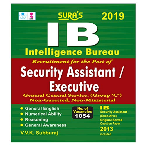 IB Intelligence Bureau Security Assistant and Executive (Group C) Exam Books