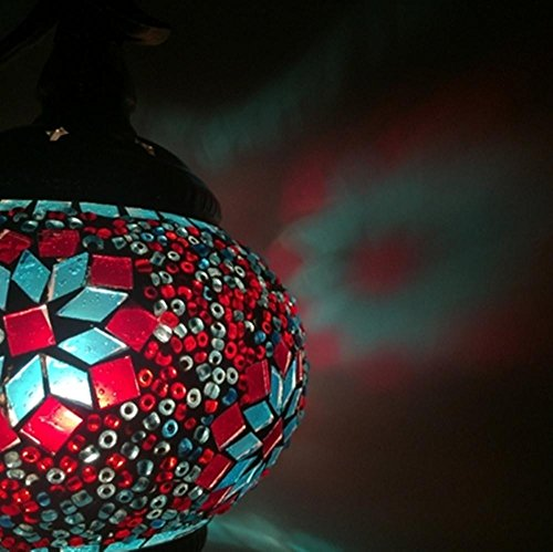 AIMS@ LED E14 5W Eastern Mediterranean style bedroom nightstand den restaurant decorative mosaic glass wall lamp , fc