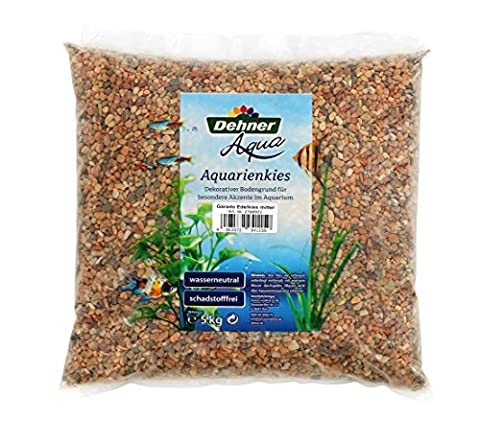 Dehner Aqua, Stainless, Medium Grain Aquarium Gravel, 5 Kg,