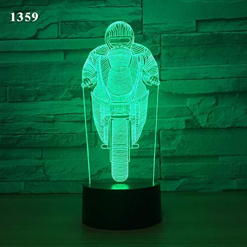 Ksghdlj LED-Motorrad-Licht, neues Nachtlicht, Motorrad führte Schreibtischlampe, USB Fernbedienung Sensor-Licht,Metallisch