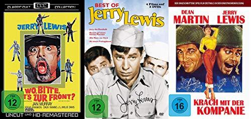6er JERRY LEWIS Klassiker Collection - Wo bitte geht's zur Front + Das Mondkalb + Besuch vom kleinen Planeten + Alle Mann von D