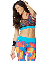 Zumba Fitness Hot In Here Soutien-gorge Femme Waterfall FR : L (Taille Fabricant : L)