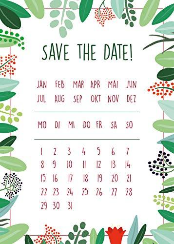 50 Save the Date Karten, Hochzeit, Einladung, Bekanntmachung, Terminplanung, Mitteilung