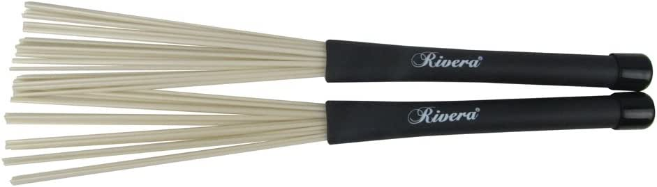 1 Paar Teleskop Nylon Trommel Pinsel  Drum Brush Ersatzteile Schwarz